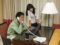Businesspeople in hotel Royalty Free Stock Photos