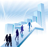 Businesspeople in a hurry vector illustration