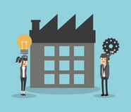 Businesspeople icon design Royalty Free Stock Images