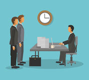 Businesspeople icon design Stock Images
