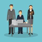 Businesspeople icon design Stock Photos