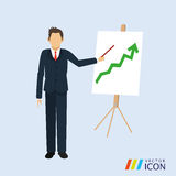 Businesspeople icon design Royalty Free Stock Image