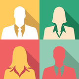 Businesspeople icon set including males & females Stock Images