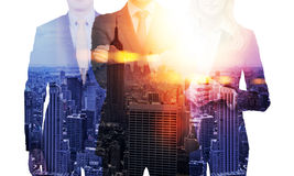 Businesspeople In NY Multiexposure Royalty Free Stock Photo