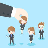 Businesspeople with interview concept Stock Photos