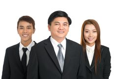 Happy businesspeople Stock Images