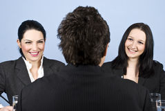 Businesspeople job interview Royalty Free Stock Photo