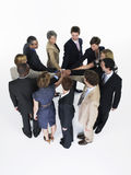 Businesspeople Joining Hands In Circle Royalty Free Stock Photo