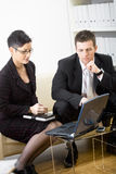 Businesspeople with laptop Royalty Free Stock Photo