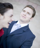 Businesspeople laughing Stock Photography