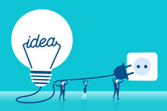 Businesspeople with light bulb Royalty Free Stock Photography