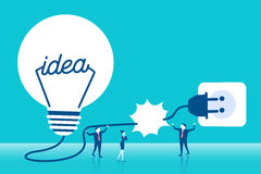 Businesspeople with light bulb Stock Photography