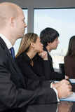 Businesspeople listening Royalty Free Stock Image