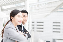 Businesspeople look somewhere in office. Businesspeople look somewhere  in office in hongkong Stock Images