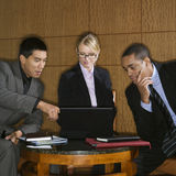 Businesspeople Looking at Laptop royalty free stock images