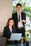 Businesspeople at lunch Stock Images