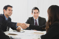 Businesspeople making handshake in the meeting Royalty Free Stock Images