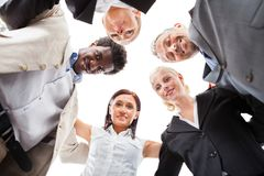 Businesspeople making huddle Royalty Free Stock Image