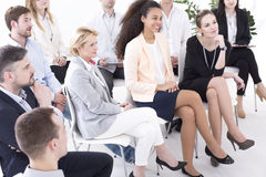 Businesspeople during management meeting Stock Image