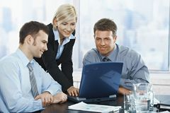 Businesspeople at meeting Stock Images