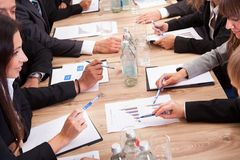 Businesspeople In Meeting Royalty Free Stock Photos
