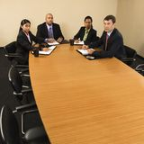 Businesspeople in meeting. Stock Photos