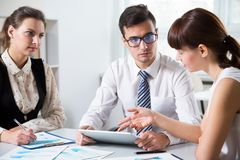 Businesspeople in a meeting. At office royalty free stock image