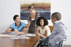 Businesspeople In Meeting At Conference Table Royalty Free Stock Photography