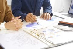 Businesspeople meeting design idea, professional investor working in office for start up new project. stock photography