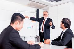 Personal development training course for new team. Businesspeople meeting and discussing with colleagues in conference room. Personal development training royalty free stock photos