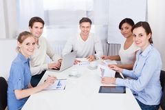 Businesspeople in meeting Stock Image