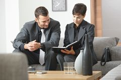 Businesspeople meeting at office Stock Photo