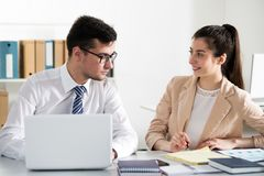 Businesspeople in a meeting. At office royalty free stock photography