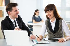 Businesspeople in a meeting. At office stock images