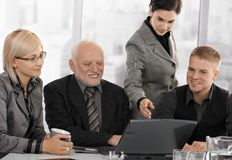 Businesspeople at meeting in office Stock Photos