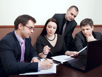 Businesspeople at a meeting in the office Royalty Free Stock Images