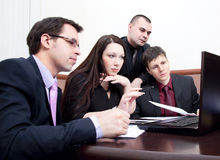 Businesspeople at a meeting in the office Royalty Free Stock Image