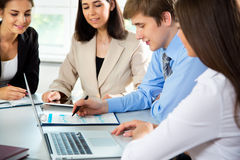 Businesspeople in a meeting at office Stock Photography