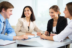 Businesspeople in a meeting at office Royalty Free Stock Photos