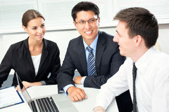 Businesspeople in a meeting at office Royalty Free Stock Images