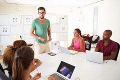 Businesspeople Meeting In Office Of Start Up Business Royalty Free Stock Image