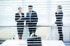 Businesspeople in a meeting at office Stock Photo