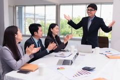 Businesspeople meeting and presentation in conference room, Busi. Businesspeople meeting and presentation in conference room., Business and finance concepts Royalty Free Stock Images