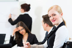Businesspeople,meeting and presentation in office Stock Photography