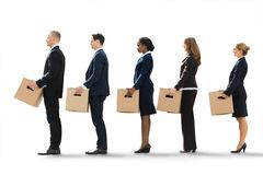 Businesspeople Moving Into New Office Royalty Free Stock Images