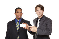 Businesspeople - new partners Royalty Free Stock Photo