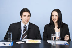 Businesspeople in office Royalty Free Stock Photo