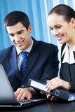 Businesspeople at office Stock Images