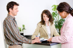 Businesspeople at office Stock Photography