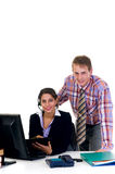 Businesspeople in office royalty free stock images